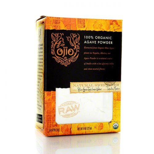 Ojio 100% Raw Organic Agave Powder, 8 oz