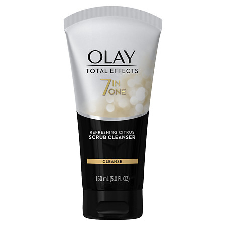 Olay Total Effects Scrub Face Cleanser Refreshing Citrus - 5 oz.