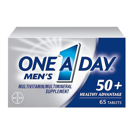 One A Day Men's 50+ Advantage Complete MultivitaminMultimineral Supplement Tablets - 65 ea