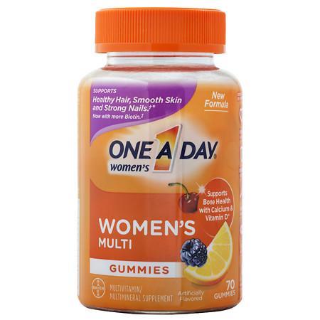 One A Day VitaCraves Women's Multivitamin Gummies Fruit - 70 ea