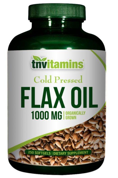 Organic Flax Oil 1000 Mg Softgels