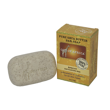 Out Of Africa Organic Shea Butter Bar Soap Apricot Exfoliating Bar - 4 oz.