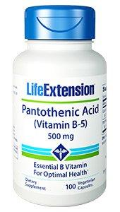 Pantothenic Acid (Vitamin B-5), 500 mg, 100 vegetarian capsules