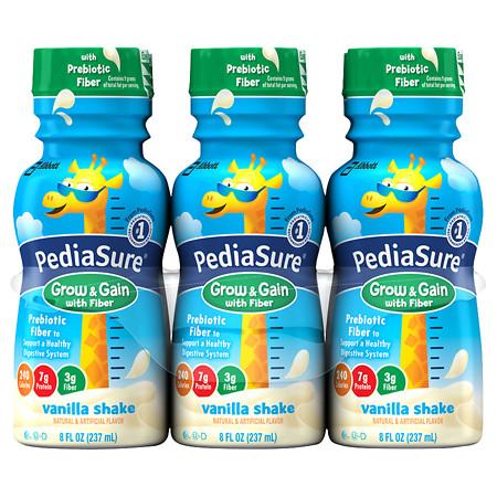 PediaSure Complete, Balanced Nutrition Shake with Fiber Vanilla - 8 oz.