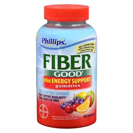 Phillips Fiber Gummies + Energy Support - 80 ea