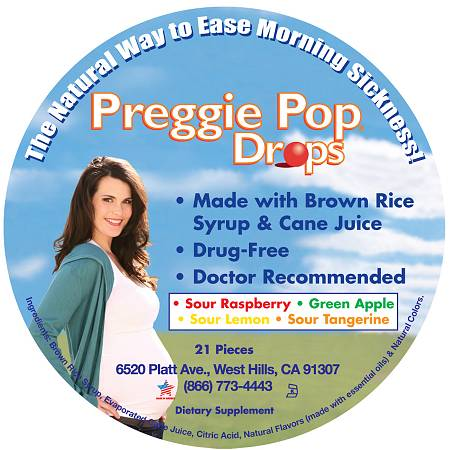 Preggie Pops Morning Sickness Relief Drops - 21 ea