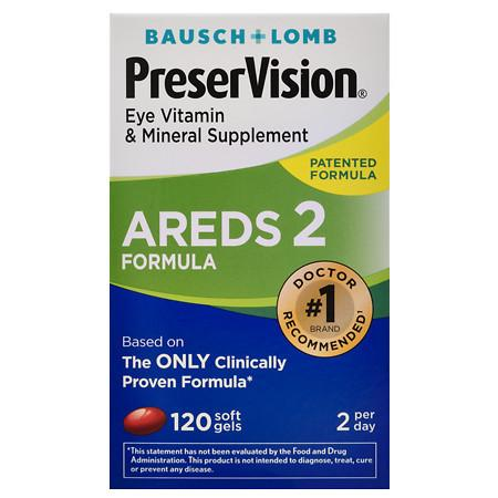 PreserVision AREDS 2 Formula Eye Vitamin & Mineral Supplement Softgels - 120 ea