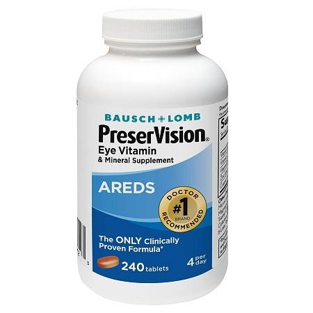 PreserVision Eye Vitamin & Mineral Supplement, Tablets - 240 ea