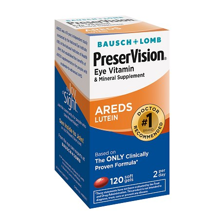 PreserVision Eye Vitamin and Mineral Supplement Soft Gels - 120 ea