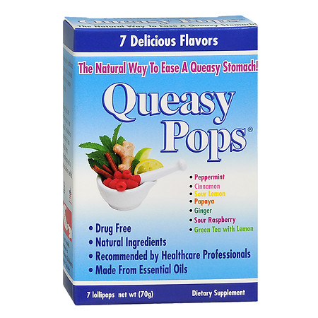 Queasy Pops Stomach Relief - 7 ea