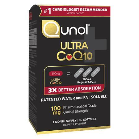 Qunol Ultra 100 mg CoQ10 Dietary Supplement Softgels - 30 ea