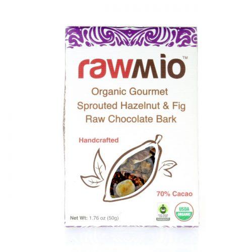 Rawmio Hazelnut & Fig Raw Chocolate Bark, 1.76 oz