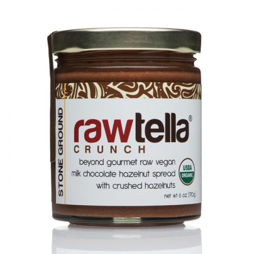 Rawtella Vegan Chocolate Hazelnut Spread, Crunch, 6 oz/170g