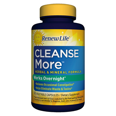 ReNew Life Cleanse More Dietary Supplement Capsules - 60 ea