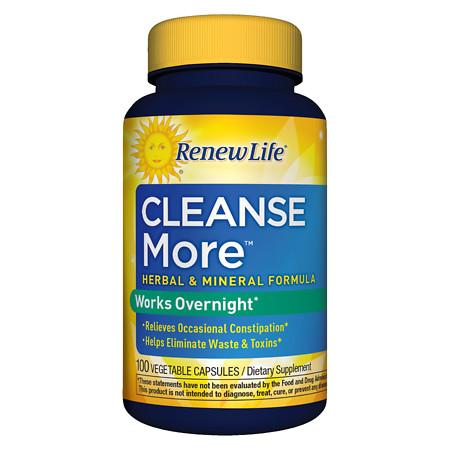 ReNew Life CleanseMore Dietary Supplement Vegetarian Capsules - 100 ea