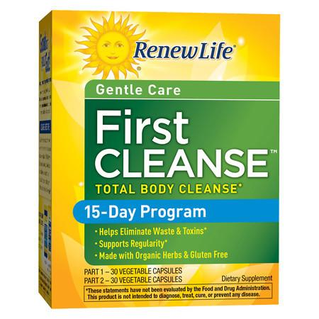 ReNew Life First Cleanse Dietary Supplement Capsules - 60 ea