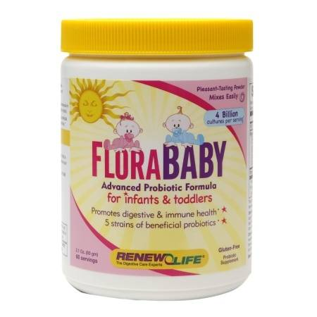 ReNew Life Flora Baby Advanced Probiotic Formula for Infants & Toddlers - 2.1 oz.