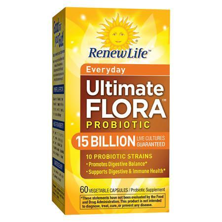 ReNew Life Ultimate Flora Adult, Probiotic, 15 Billion, Veggie Capsules - 60 ea
