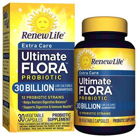 ReNew Life Ultimate Flora Extra Care Probiotic Veggie Capsules - 30 ea