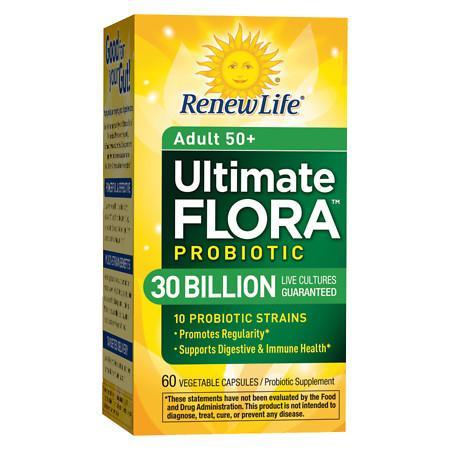 ReNew Life Ultimate Flora Senior Formula Probiotic, 30 Billion, Veggie Capsules - 60 ea