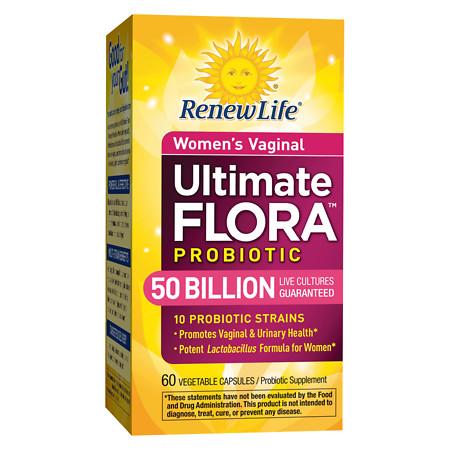 ReNew Life Ultimate Flora Vaginal Support Probiotic, 50 Billion, Veggie Capsules - 60 ea