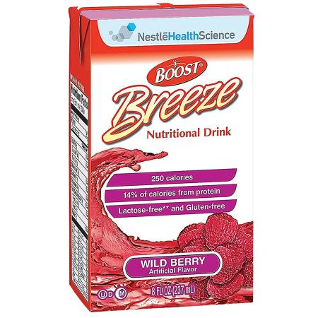 Resource Breeze Fruit Flavored Clear Nutritional Drink Wild Berry - 8 oz.