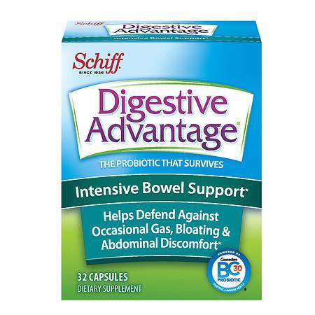 Schiff Digestive Advantage Intensive Bowel Support Capsules - 32 ea