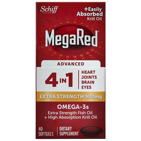 Schiff MegaRed 4 In 1 900 mg Softgels - 40 ea