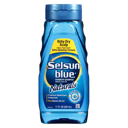 Selsun Blue Naturals Dandruff Shampoo, Itchy Dry Scalp Citrus Blast - 11 fl oz