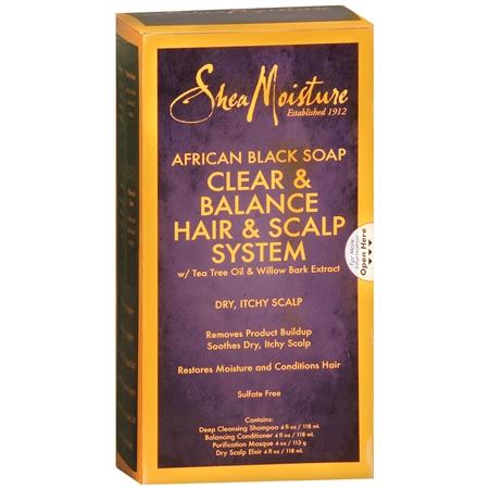 SheaMoisture African Black Soap Clear & Balance Hair & Scalp System - 1 ea