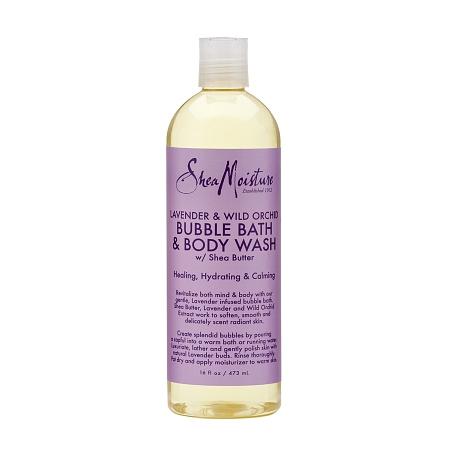 SheaMoisture Bubble Bath & Body Wash Lavender and Wild Orchid - 16 oz.