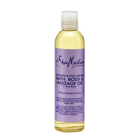 SheaMoisture Lavender & Wild Orchid Bath, Body & Massage Oil - 8 oz.