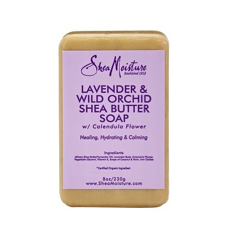 SheaMoisture Lavender & Wild Orchid Shea Butter Soap - 8 oz.