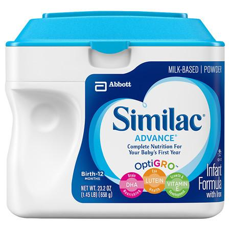 Similac Advance Complete Nutrition, Infant Formula with Iron, Powder - 1.45 lb