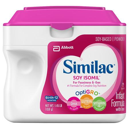 Similac Isomil Soy Infant Formula with Iron, Powder - 1.45 lb