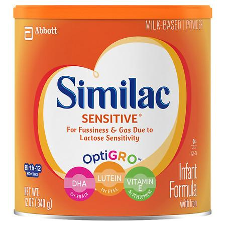 Similac Sensitive Infant Formula with Iron, Powder - 12 oz.
