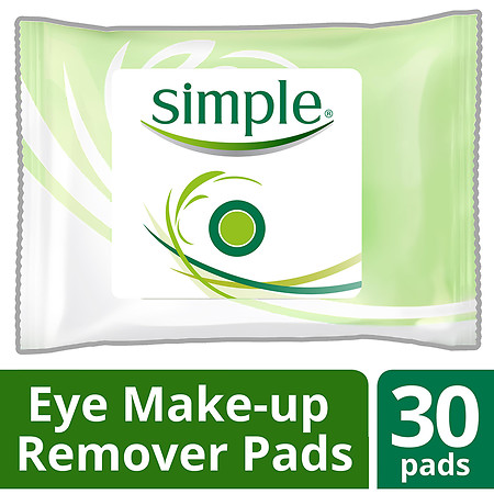 Simple Eye Makeup Remover Pads - 30 ea