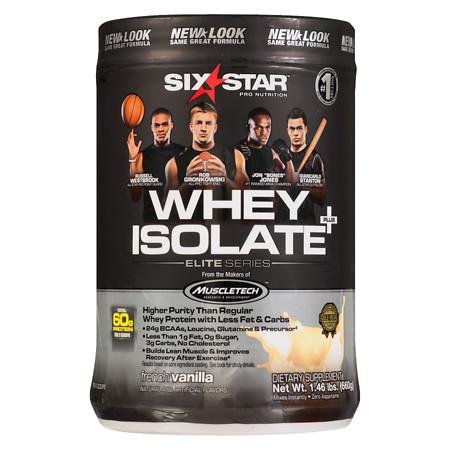 Six Star Elite Series Whey Isolate Dietary Supplement Powder Vanilla Cream - 1.5 lbs