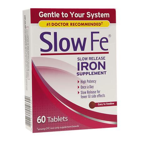 Slow Fe Slow Release Iron, Tablets - 60 ea