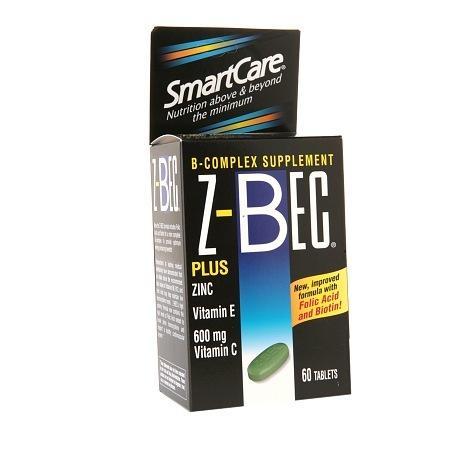 SmartCare Z-Bec B-Complex Supplement, Tablets - 60 ea