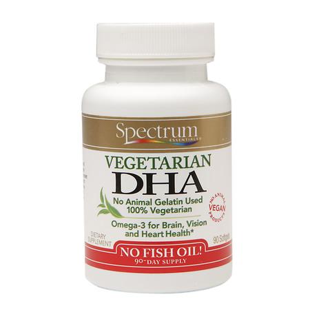 Spectrum Essentials Vegetarian DHA, Softgels - 90 ea