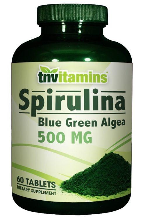 Spirulina Blue Green Algae 500 mg Tablets