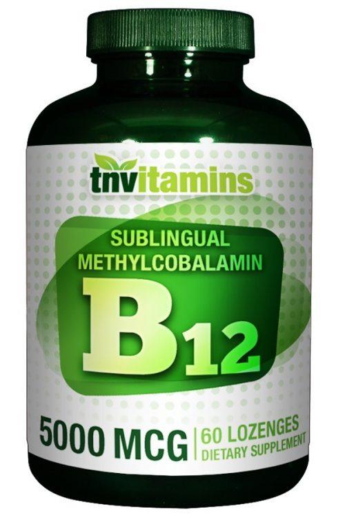 Sublingual Vitamin B-12 Methylcobalamin 5000 Mcg