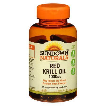 Sundown Naturals Krill Oil 1000 mg Dietary Supplement Softgels - 60 ea