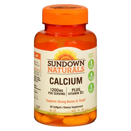 Sundown Naturals Liquid-Filled Calcium, Softgels - 60 ea