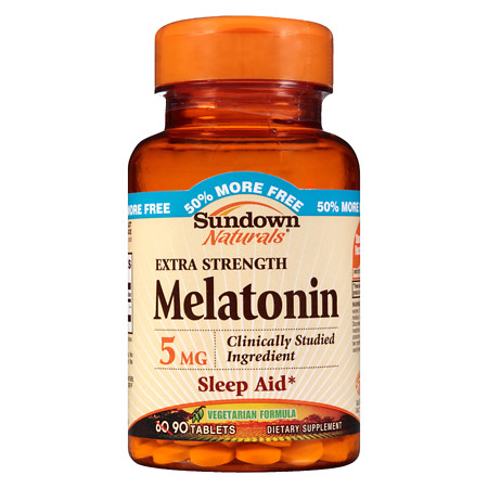 Sundown Naturals Melatonin 5 mg Dietary Supplement Tablets - 60 ea