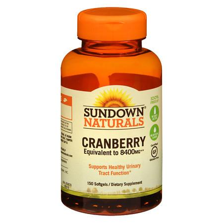 Sundown Naturals Naturals Super Cranberry plus Vitamin D3 Herbal Supplement Softgels - 150 ea.