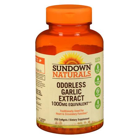 Sundown Naturals Odorless Garlic 1000mg, Softgels - 250 ea