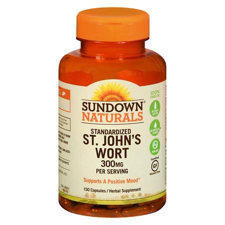 Sundown Naturals St. John's Wort 300 mg Herbal Supplement Capsules - 150 ea