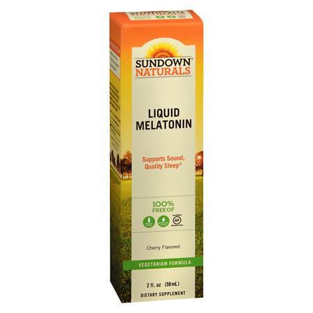Sundown Naturals Sublingual Melatonin Liquid Cherry - 2 fl oz